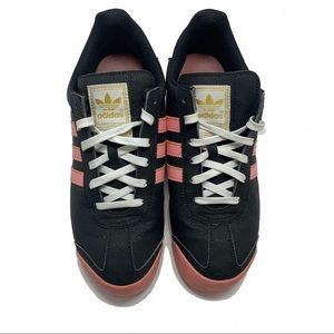 Adidas Somoa Athletic Shoes Women Navy Pink Gold